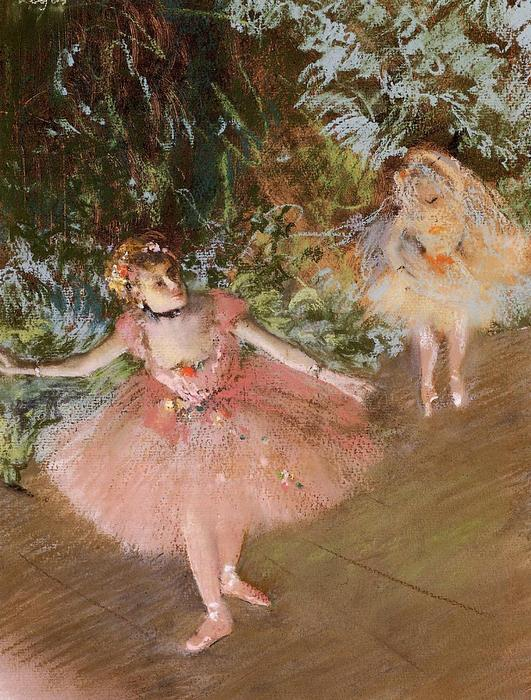 famous painting Dancer on Stage 1 of Edgar Degas