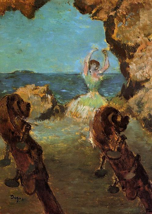 famous painting Dancer on Stage of Edgar Degas