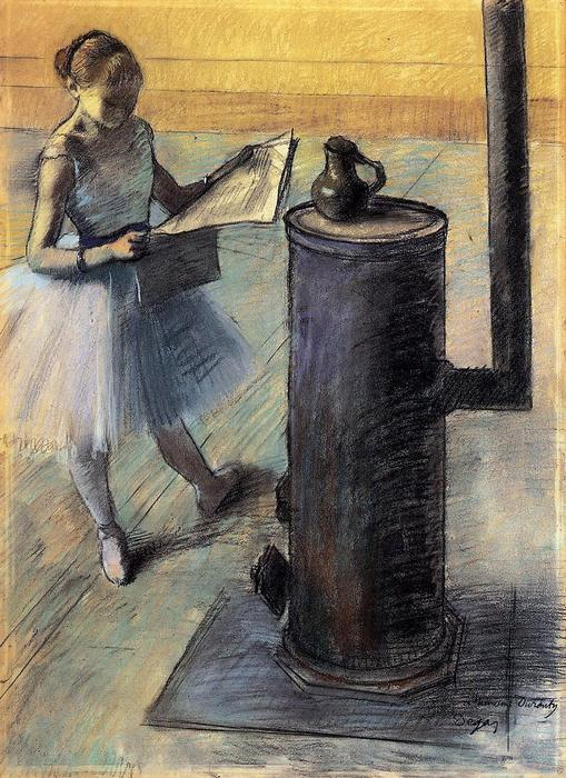 famous painting Dancer resting of Edgar Degas