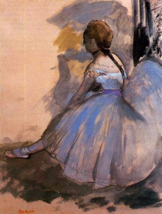 famous painting Dancer Seated (study) of Edgar Degas