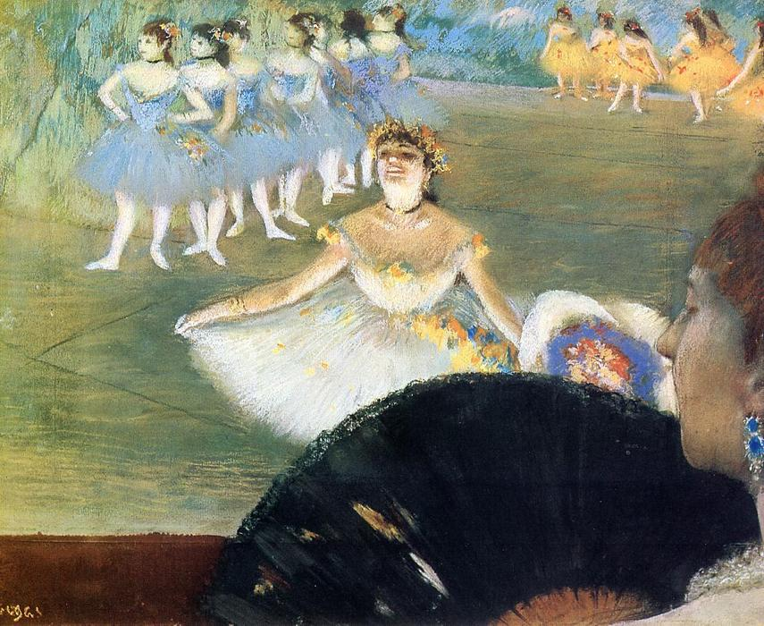 famous painting Dancer with a Bouquet of Flowers of Edgar Degas