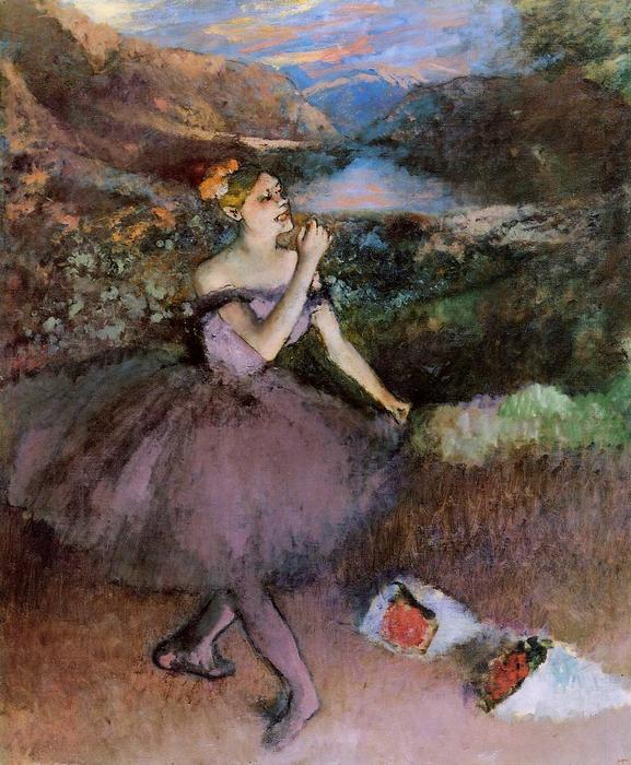 famous painting Dancer with Bouquets of Edgar Degas
