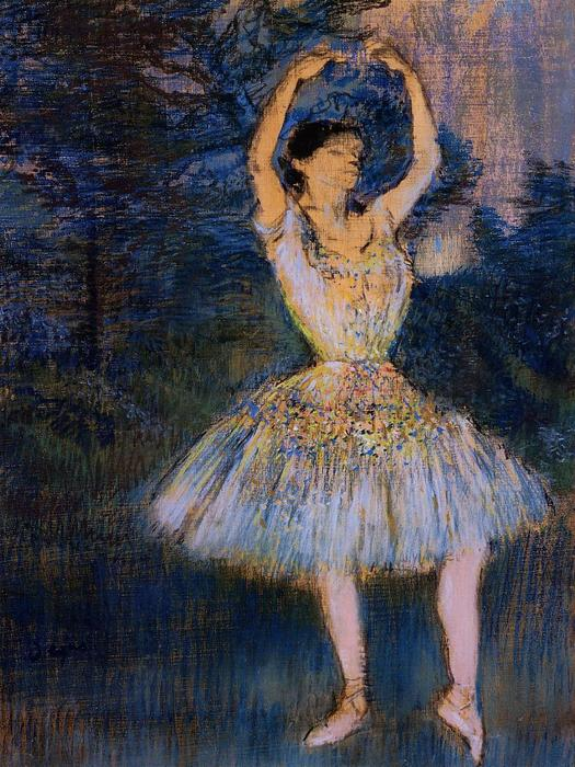 famous painting Dancer with Raised Arms of Edgar Degas