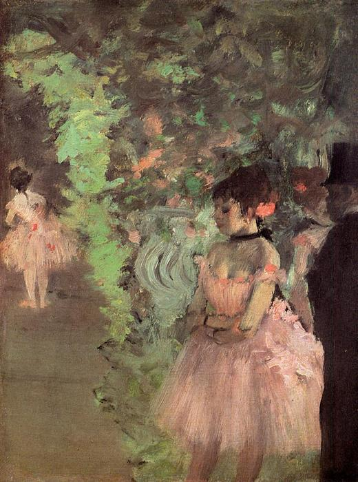 famous painting Dancers Backstage of Edgar Degas