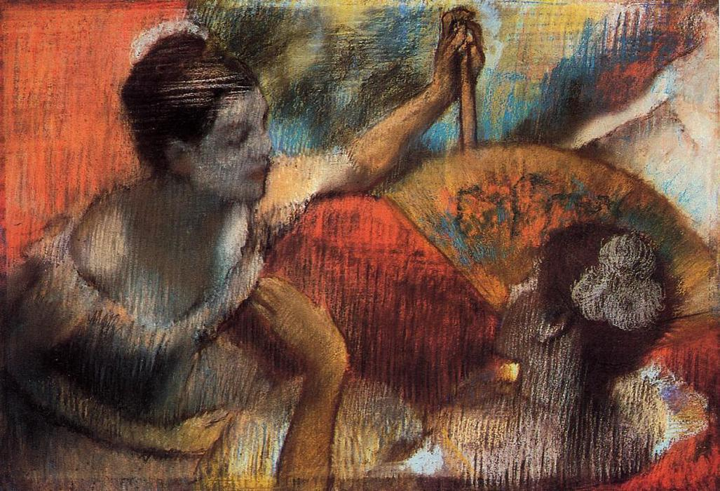 famous painting Dancers in a Box of Edgar Degas