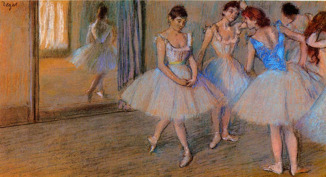 famous painting Dancers in the Studio of Edgar Degas