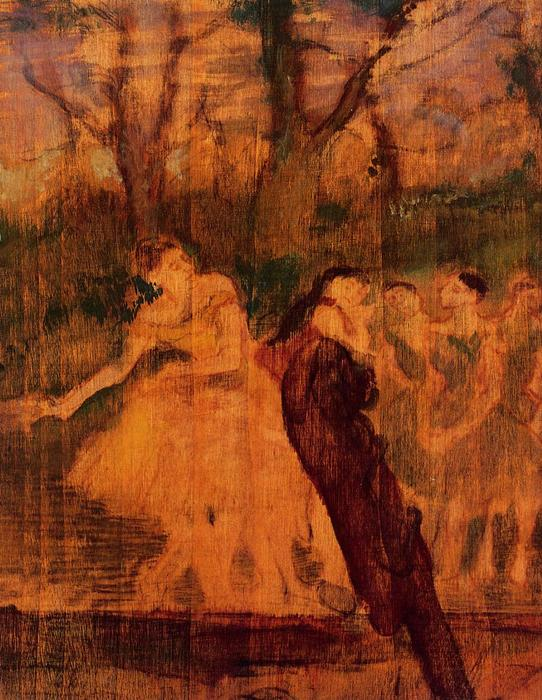 famous painting Dancers on the Scenery of Edgar Degas