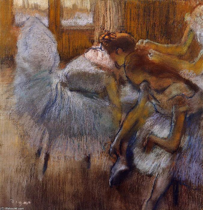 famous painting Dancers Relaxing of Edgar Degas