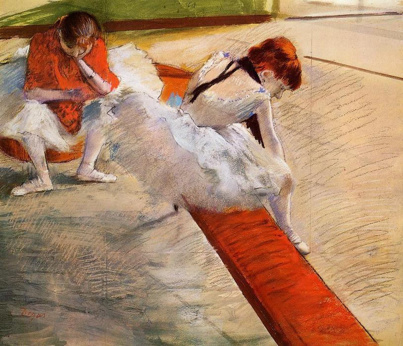 famous painting Dancers Resting of Edgar Degas