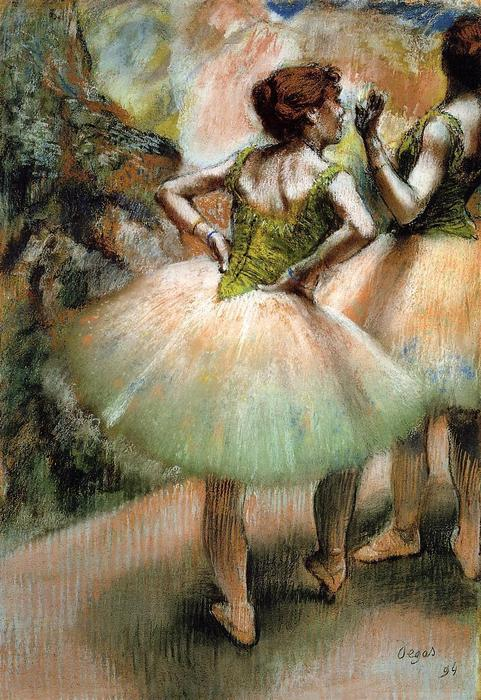 famous painting Dancers, Pink and Green 1 of Edgar Degas