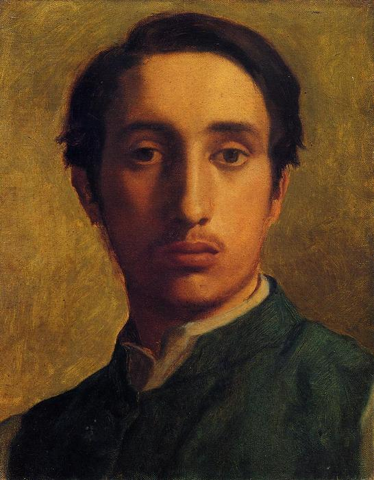 famous painting Degas in a Green Jacket of Edgar Degas