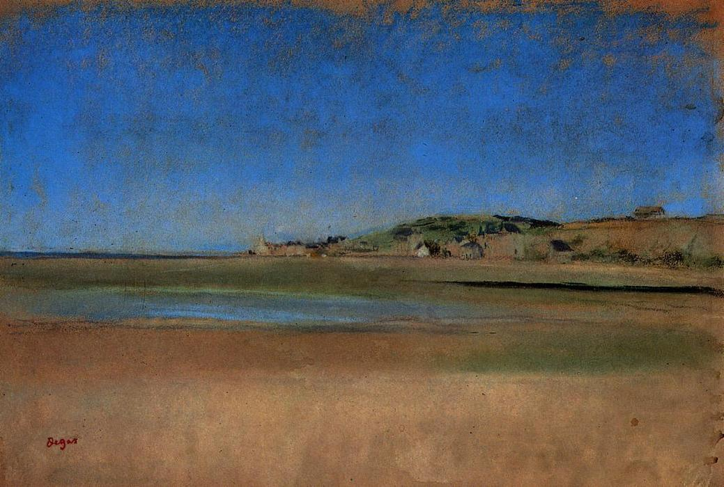 famous painting Houses by the Seaside of Edgar Degas