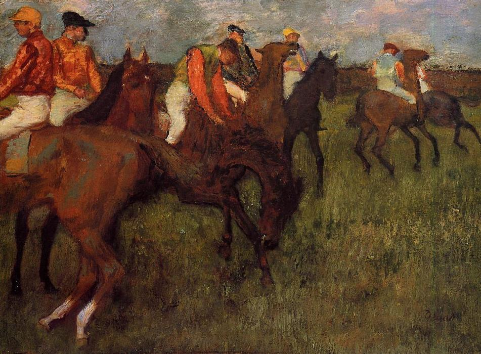 famous painting Jockeys 3 of Edgar Degas