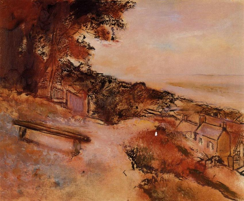 famous painting Landscape by the Sea of Edgar Degas