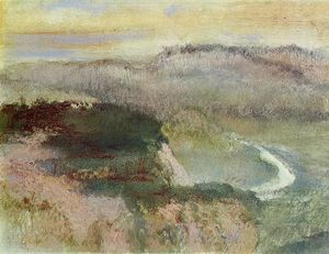 Edgar Degas - Landscape with Hills