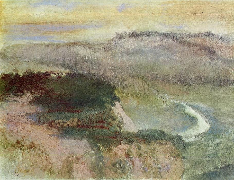famous painting Landscape with Hills of Edgar Degas