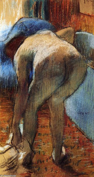 famous painting Leaving the Bath 1 of Edgar Degas