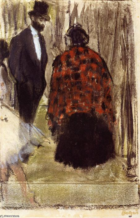 famous painting Ludovic Halevy Speaking with Madame Cardinal of Edgar Degas