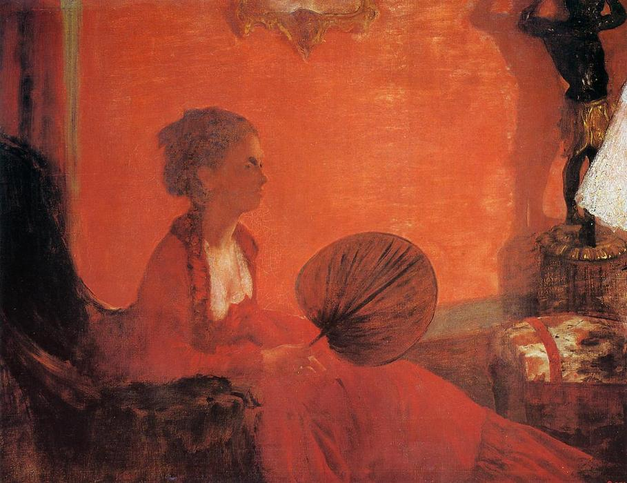 famous painting Madame Camus with a Fan of Edgar Degas