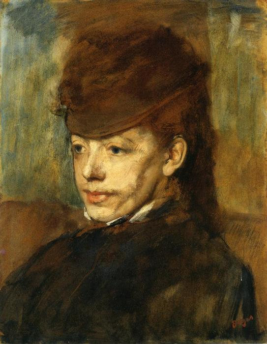 famous painting Mademoiselle Malo 1 of Edgar Degas