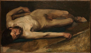 Edgar Degas - Male Nude