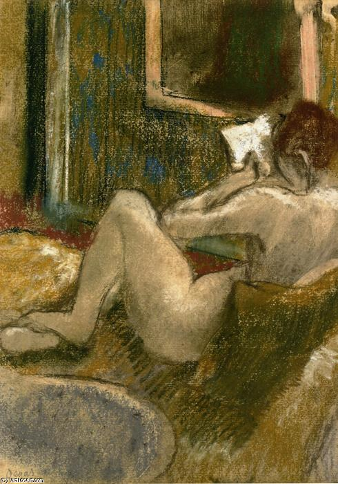 famous painting Nude from the Rear, Reading of Edgar Degas