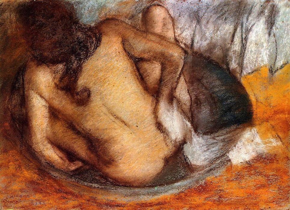 famous painting Nude in a Tub of Edgar Degas
