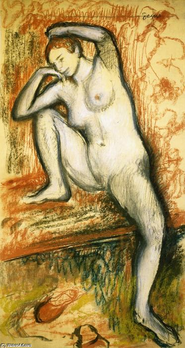 famous painting Nude Study of a Dancer of Edgar Degas