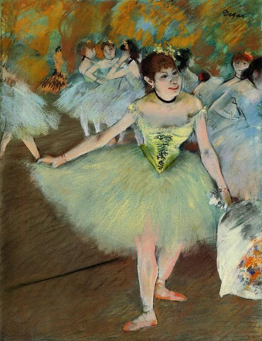 famous painting On Stage of Edgar Degas