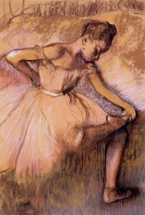 famous painting Pink Dancer of Edgar Degas