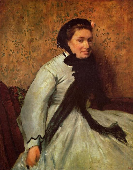 famous painting Portrait of a Lady in Grey of Edgar Degas