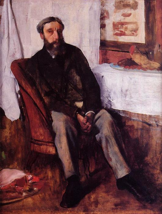 famous painting Portrait of a Man of Edgar Degas
