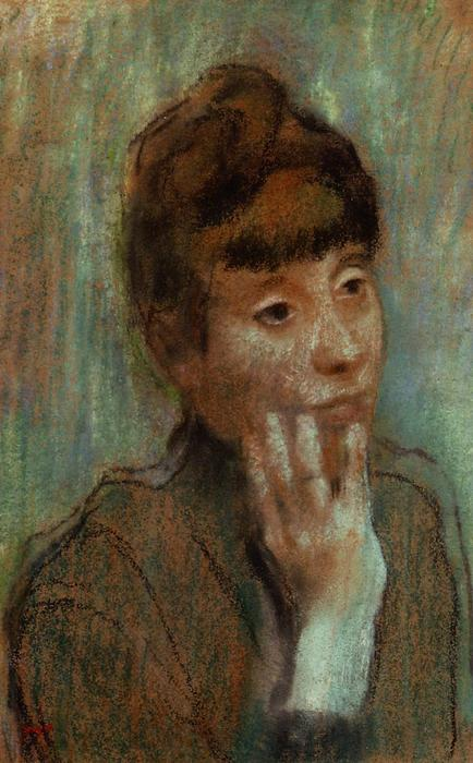famous painting Portrait of a Woman Wearing a Green Blouse of Edgar Degas