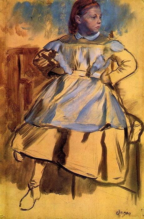 famous painting Portrait of Giulia Bellelli (sketch) of Edgar Degas