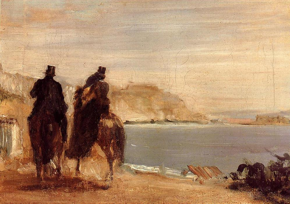 famous painting Promenade by the Sea of Edgar Degas