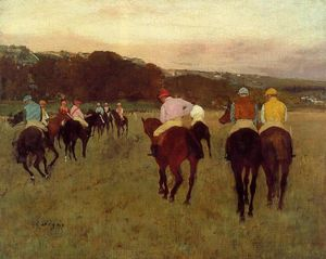 Edgar Degas - Racehorses at Longchamp 1