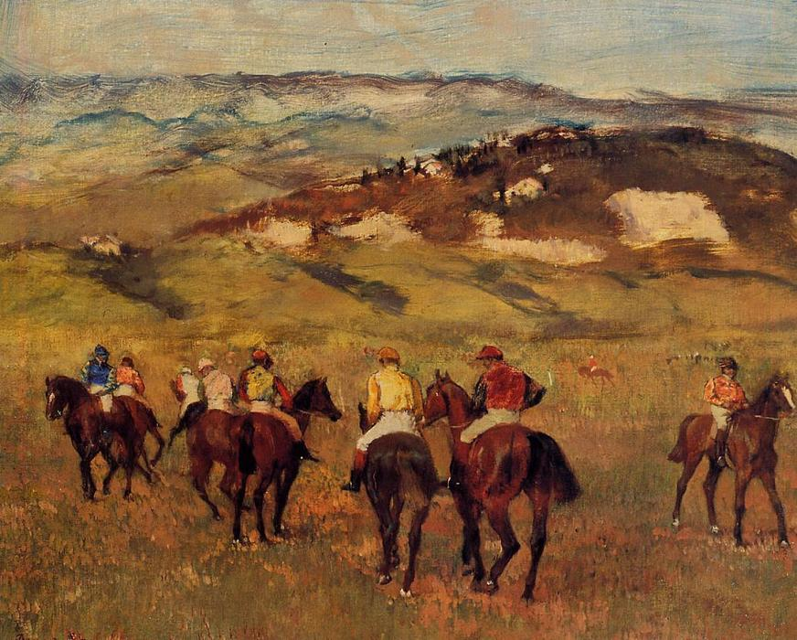 famous painting Racehorses of Edgar Degas