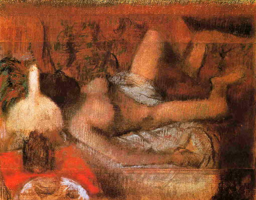 famous painting Reclining Nude of Edgar Degas