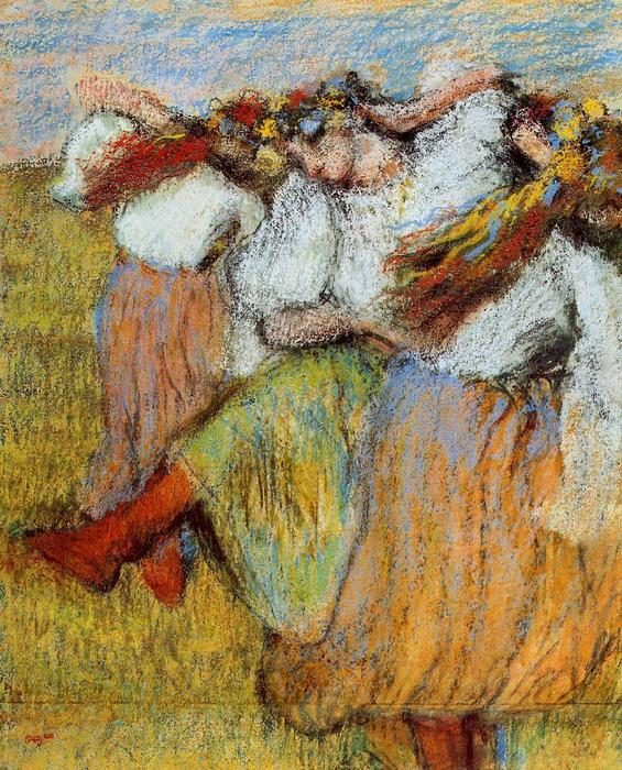 famous painting Russian Dancers 3 of Edgar Degas