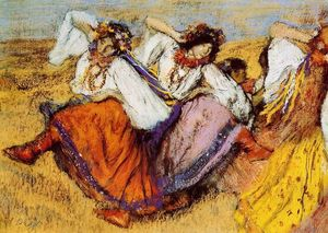Edgar Degas - Russian Dancers 4