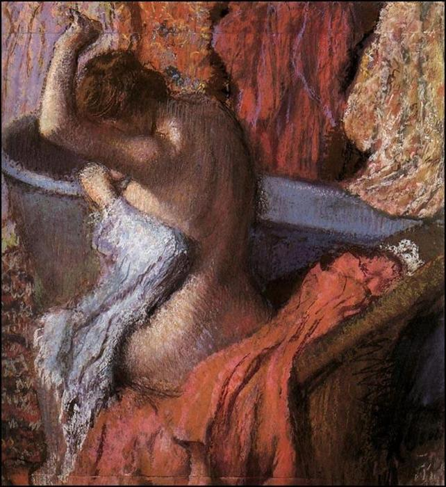 famous painting Seated Bather Drying Herself 1 of Edgar Degas