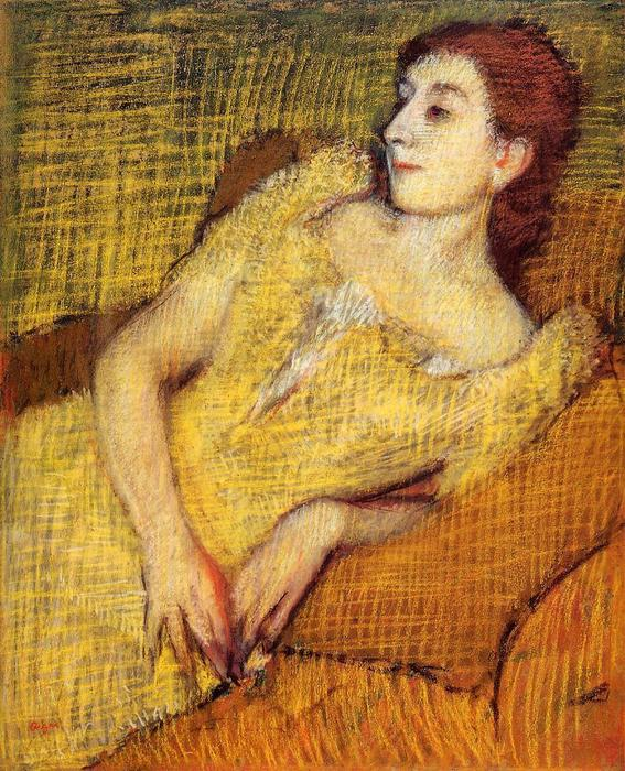 famous painting Seated Woman of Edgar Degas