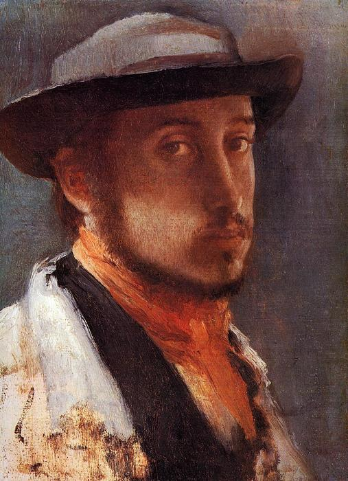 famous painting Self Portrait in a Soft Hat of Edgar Degas