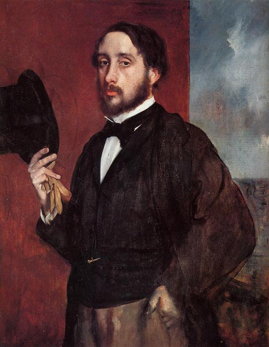 famous painting Self Portrait Saluting of Edgar Degas