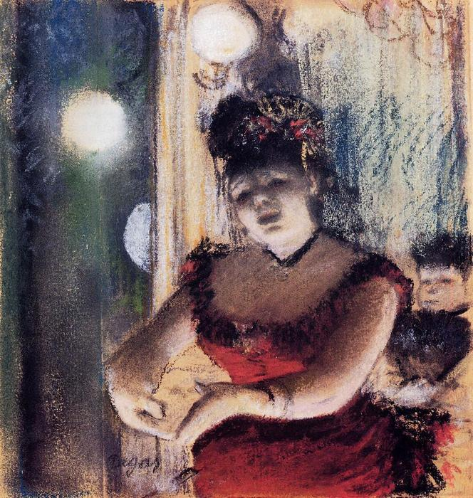 famous painting Singer in a Cafe-Concert of Edgar Degas