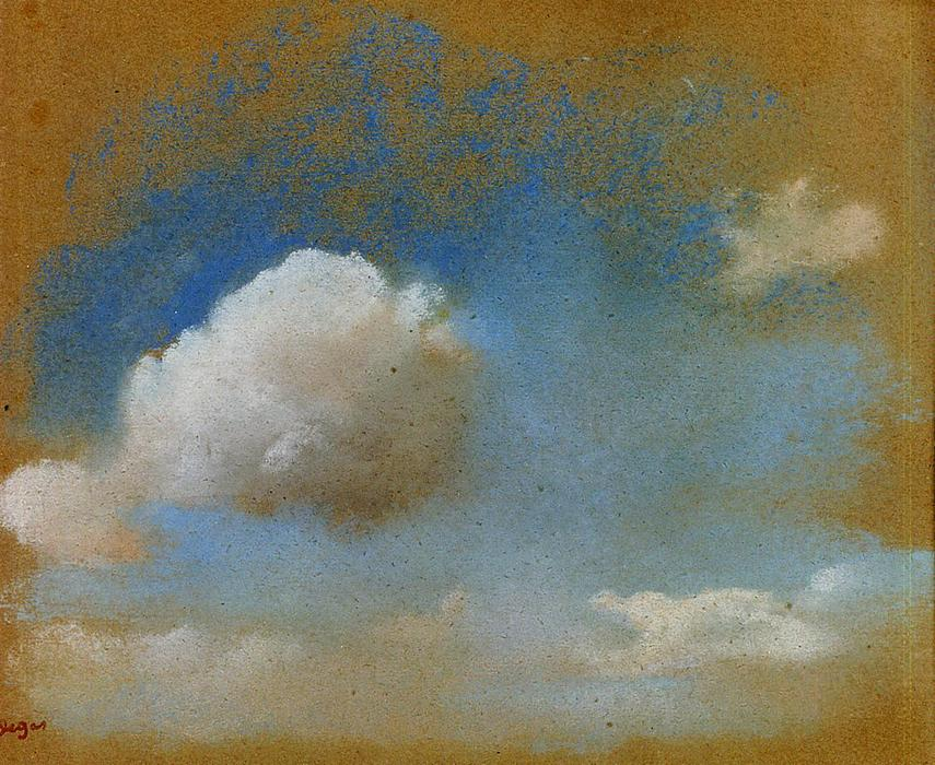 famous painting Sky Study of Edgar Degas