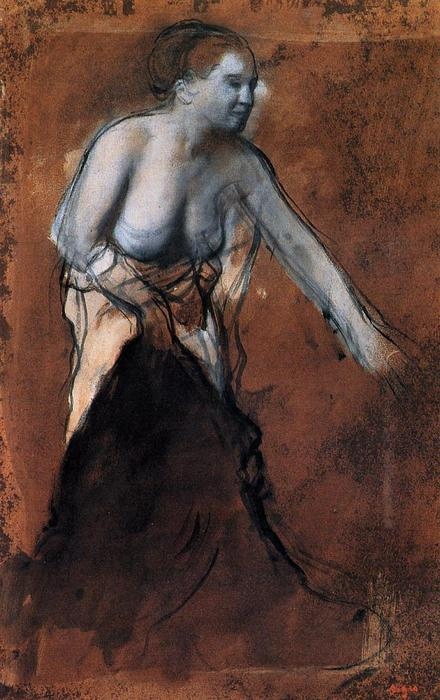 famous painting Standing Female Figure with Bared Torso of Edgar Degas
