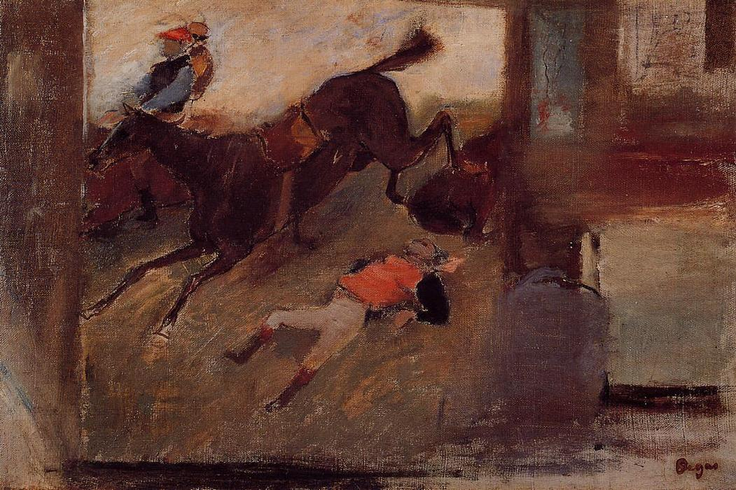 famous painting Studio Interior with 'The Steeplechase' of Edgar Degas