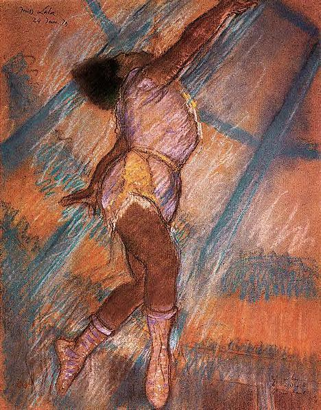 famous painting Study for 'La La at the Cirque Fernando' of Edgar Degas