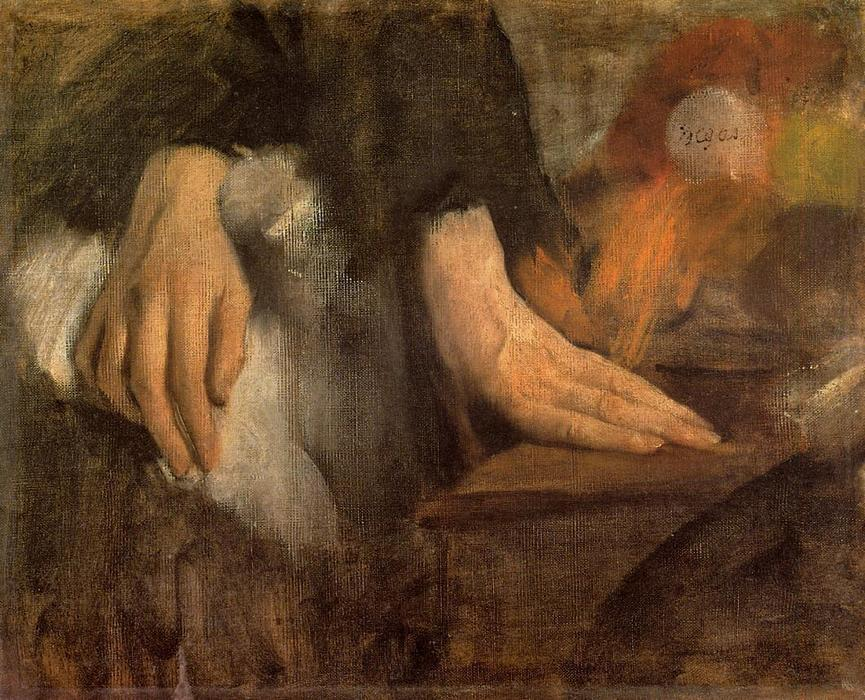 famous painting Study of Hands of Edgar Degas